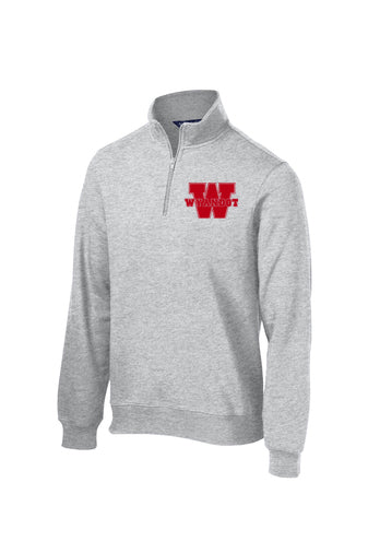 Wyandot 1/4 Zip Sweatshirt ( choose black or gray)