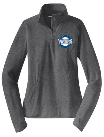 Vipers Ladies Quarter Zip Tech Pullover