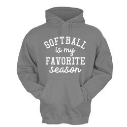 Softball Is My Favorite Season Hoodie