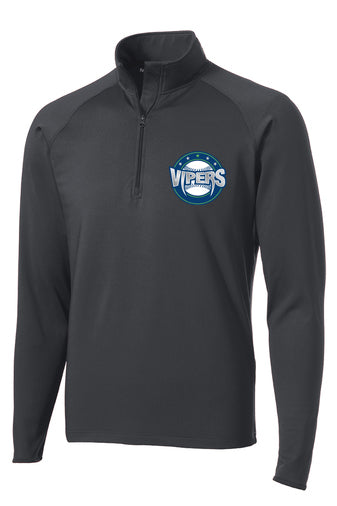 Vipers Mens Quarter Zip Tech Pullover