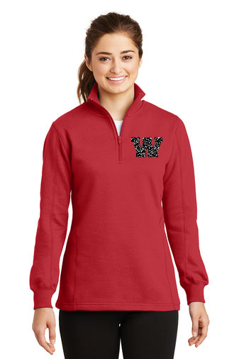 Wyandot Ladies 1/4 Zip with W Logo (Choose Glitter or Matte)