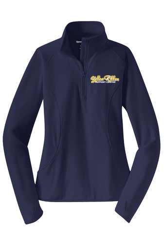 Yellow Ribbon Support Center Ladies 1/4 Zip