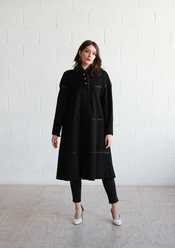 BISOUS, BISOUS / THE ZELDA COAT / Vintage 1940s Swing Coat / Starburst Buttons / Small / Medium