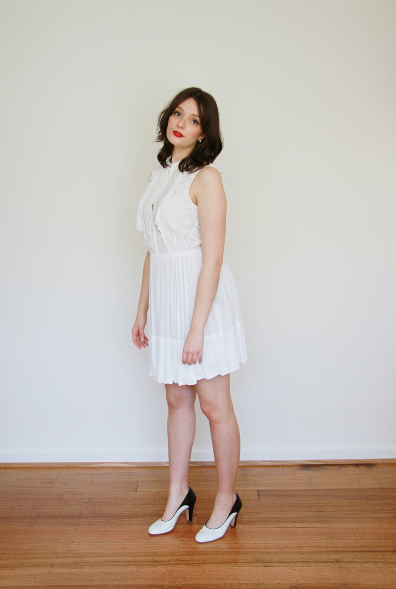 Twentysevennames White Lace Crepe Dress / XS/S
