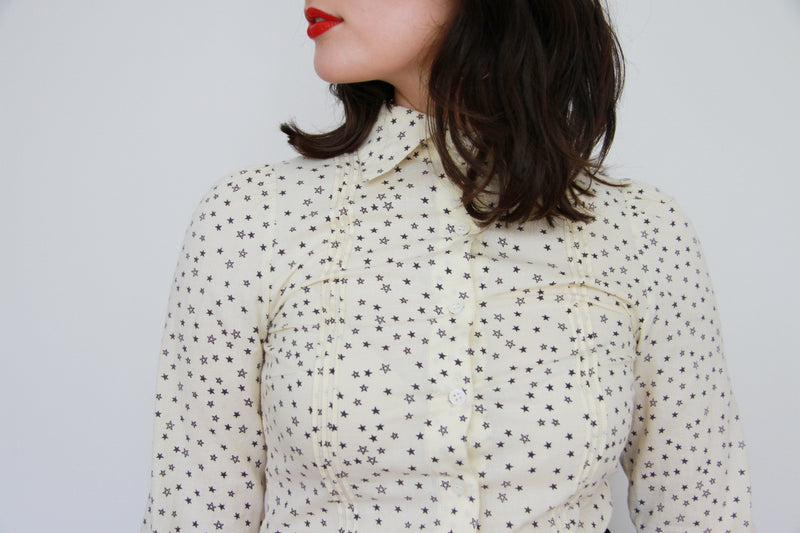 Family Affairs Farrah Shirt / Designer / Tiny Stars / XS