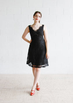 Vintage 1960s Jonathan Logan Lace Dress / S