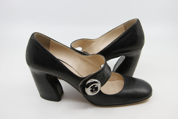 Vintage PRADA Mary Jane Leather Heels / 39