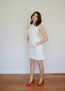 A Certain Smile / Vintage 1960s Shannon Rodgers for Jerry Silverman White Mod Dress / XS/S
