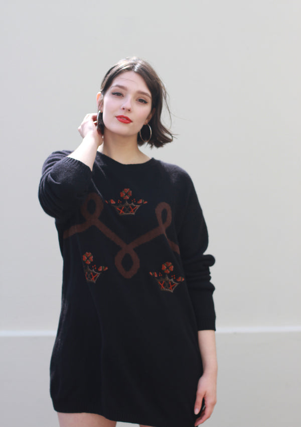 Vintage 1980s CENTO Oversized Sweater / Made in Italy / S/M/L