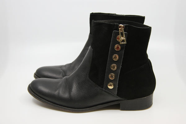 Zadig & Voltaire Arcade Rivets Leather Boots / 39