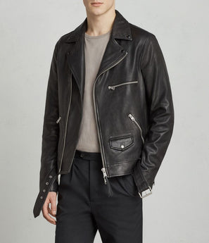 Kodey Leather Bike Jacket