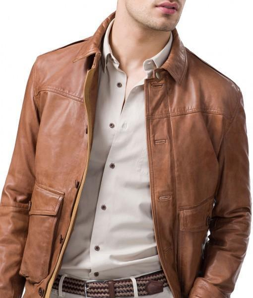 Rocko Men Leather Bomber Jackets - Xosack