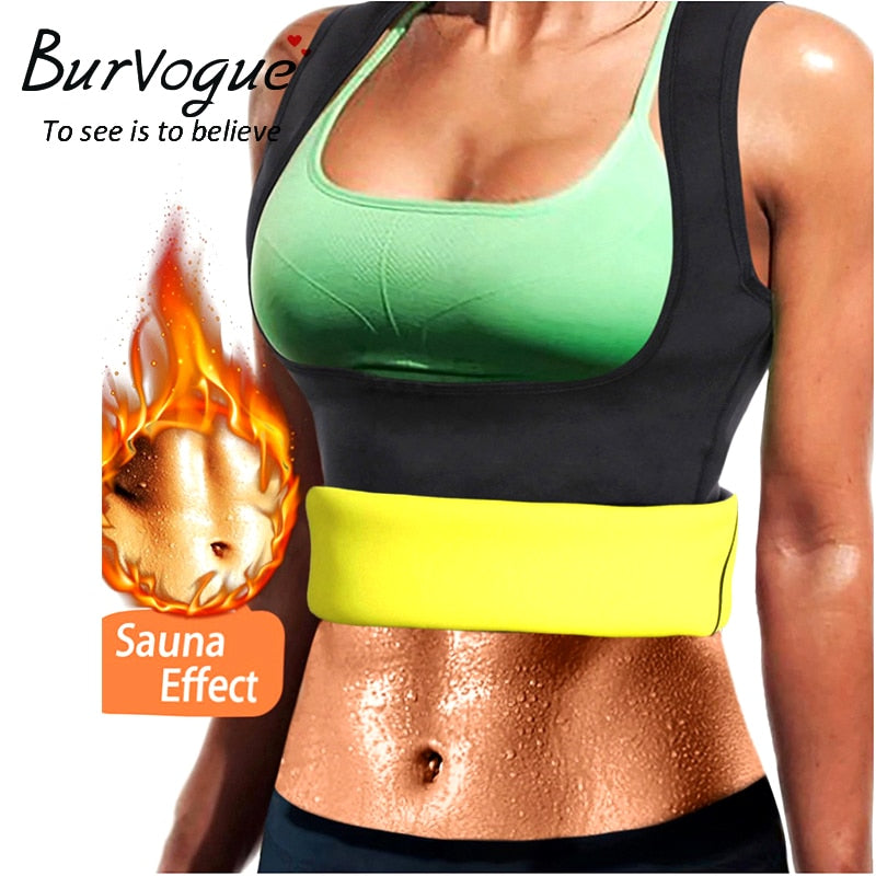 7718f1af7f Burvogue Women Shapers Neoprene Body Shaper Slimming Waist Trainer Corset  for Weight Loss Sweat Sauna Hot