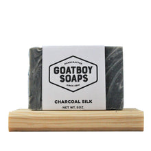 Load image into Gallery viewer, Goatboy Soaps - Charcoal Silk