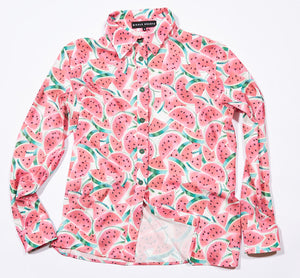 Watermelon Print Button Shirt