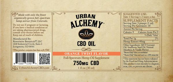 CBD Oil Blend: Orange Twist