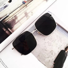 Load image into Gallery viewer, Trend square large frame metal sunglasses
