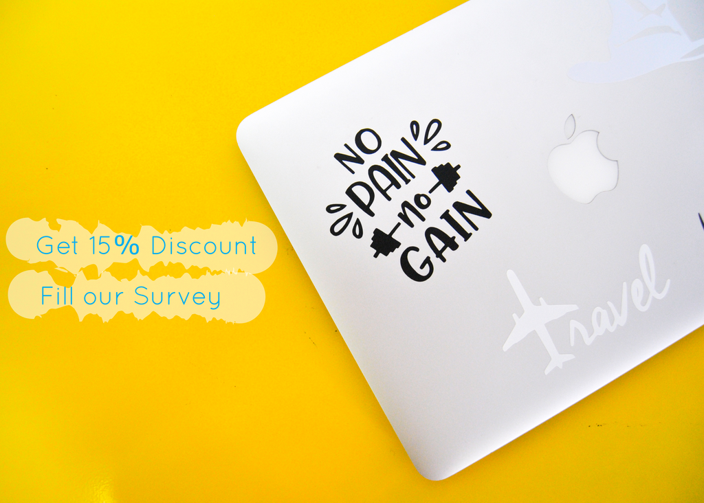 Want 15% off on our existing stock items? Fill this 3 min survey