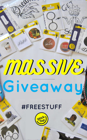 win free stickers and laptop sleeves from sticktop