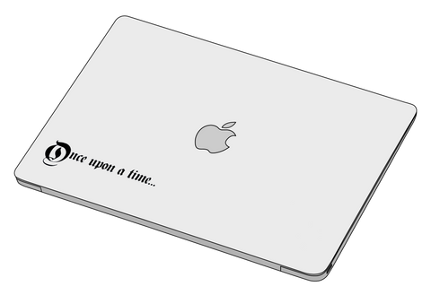 Once upon a time sticker-Decal-]-Best laptop stickers in Egypt.-sticktop