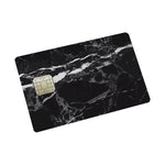 Black Marble Credit card Sticker