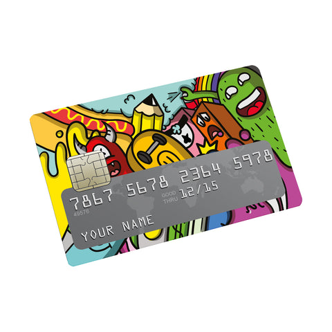 Monsters Credit card Sticker
