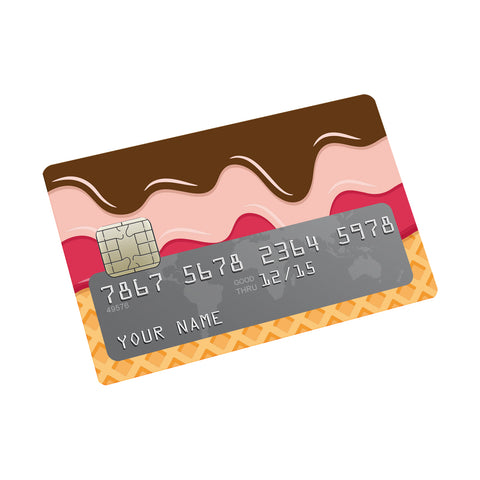 Scoops and sprinkle Credit card Sticker