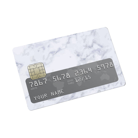 Cararra white marble Credit card Sticker