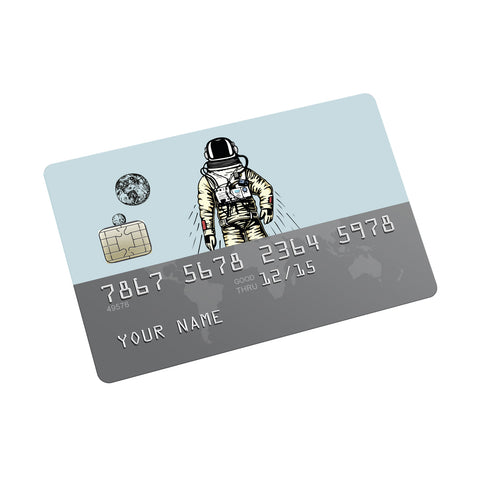 Cosmic Adventure Credit Card Sticker