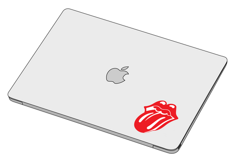 Rolling stones Red sticker-Decal-]-Best laptop stickers in Egypt.-sticktop