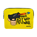 Make Art Not War Laptop Sleeve