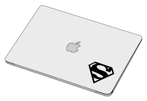 Superman Logo sticker-Decal-]-Best laptop stickers in Egypt.-sticktop