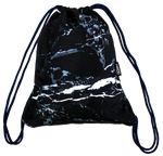 Black Marble String Bag