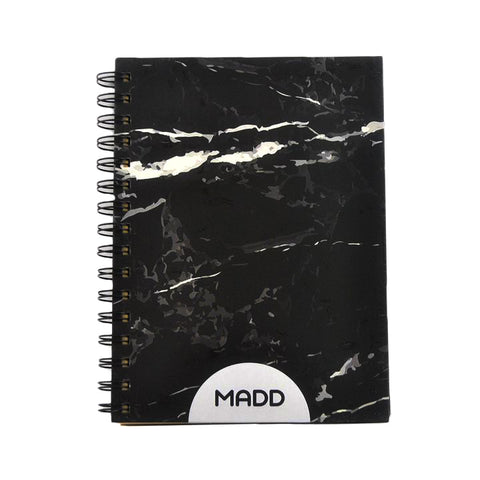 Hardcover Black Marble A5 Notebook