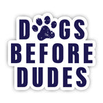 Dogs before dudes Sticker-Minis-MADD-[Laptop sticker Egypt]-[Laptop sticker in Egypt]-sticktop