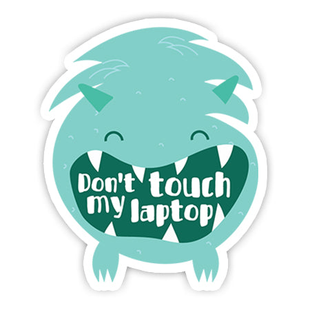 Don't touch my laptop Sticker-Minis-sticktop-[Laptop sticker Egypt]-[Laptop sticker in Egypt]-sticktop