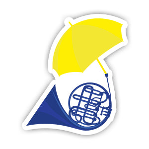 HIMYM Trumpet Umbrella sticker-Minis-sticktop-[Laptop sticker Egypt]-[Laptop sticker in Egypt]-sticktop