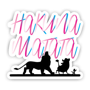 Hakuna Matata Sticker-Minis-sticktop-[Laptop sticker Egypt]-[Laptop sticker in Egypt]-sticktop