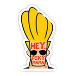 Hey foxy mama sticker-Minis-MADD-[Laptop sticker Egypt]-[Laptop sticker in Egypt]-sticktop