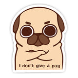 I Don't give a pug sticker-Minis-sticktop-[Laptop sticker Egypt]-[Laptop sticker in Egypt]-sticktop