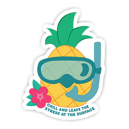 Leave the stress at the surface-Minis-MADD-[Laptop sticker Egypt]-[Laptop sticker in Egypt]-sticktop