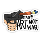 Make art not war sticker-Minis-sticktop-[Laptop sticker Egypt]-[Laptop sticker in Egypt]-sticktop