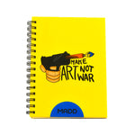 Hardcover Make Art Not War A5 Notebook