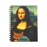 Mona lisa A5 Notebook