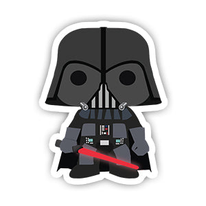 Star Wars Darth Vader Sticker-Minis-sticktop-[Laptop sticker Egypt]-[Laptop sticker in Egypt]-sticktop