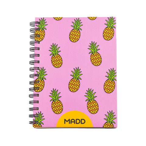 Hardcover Pineapple A5 Notebook
