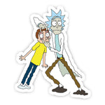 Rick and Morty Pulling Face sticker-Minis-sticktop-[Laptop sticker Egypt]-[Laptop sticker in Egypt]-sticktop