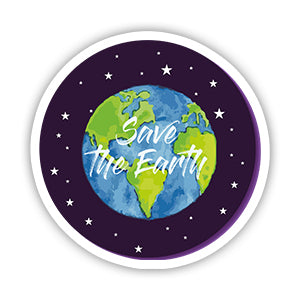 Save the earth Sticker-Minis-sticktop-[Laptop sticker Egypt]-[Laptop sticker in Egypt]-sticktop