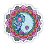 Vibrant mandala sticker-Minis-sticktop-[Laptop sticker Egypt]-[Laptop sticker in Egypt]-sticktop