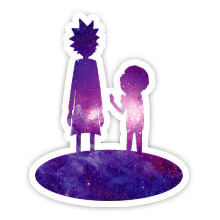 Purple Galaxy Rick and Morty sticker-Minis-sticktop-[Laptop sticker Egypt]-[Laptop sticker in Egypt]-sticktop